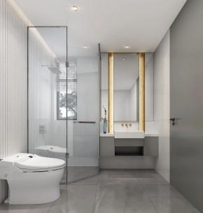 现代简约风格三居室浴室效果图