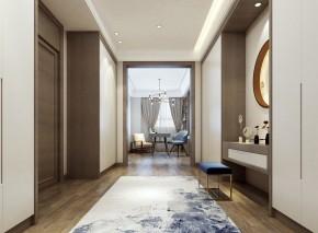 现代新中式风格走廊效果图