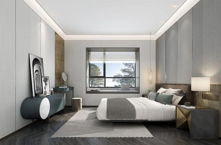 现代简约风格三居室卧室效果图