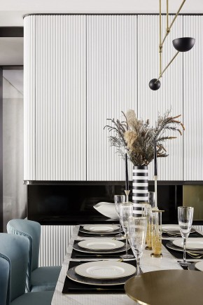 现代简约风格三居室餐厅效果图