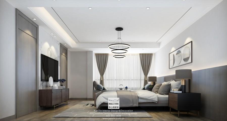 现代新中式风格卧室效果图