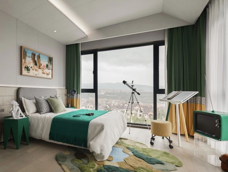 现代轻奢风格三居室效果图