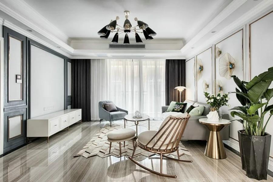 现代轻奢三居室效果图