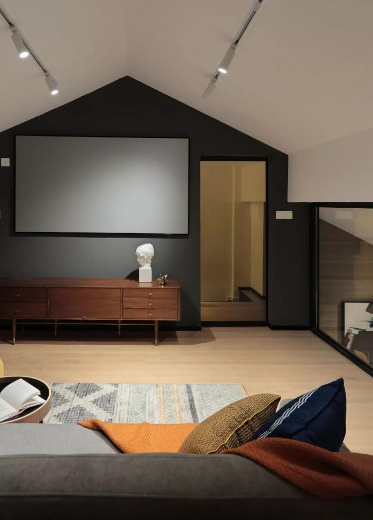 现代美式分风格两居室效果图