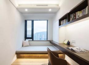现代简约风格三居室书房装修效果图