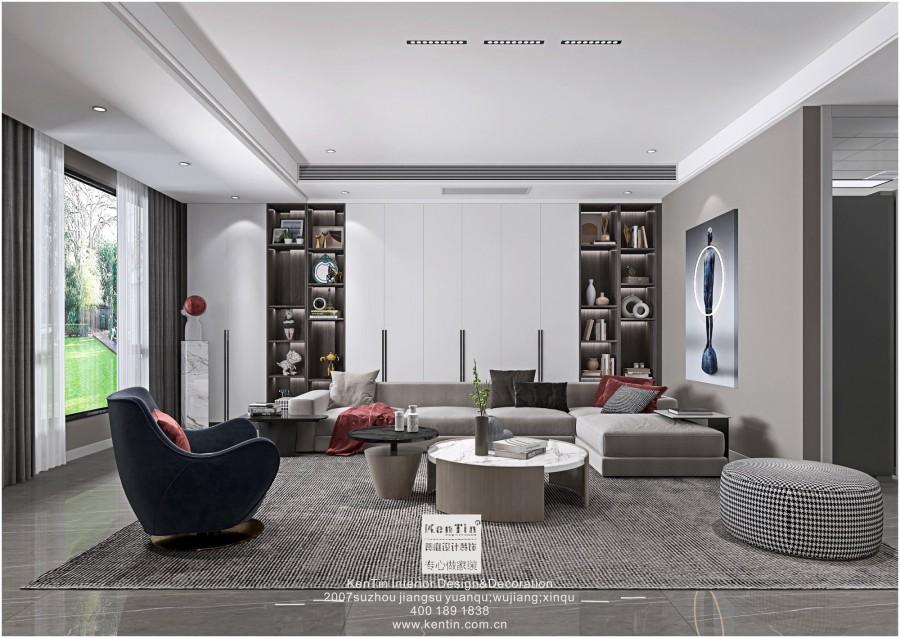 阳光城愉景湾现代简约风格叠墅客厅装修效果图