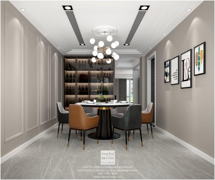 阳光城愉景湾现代简约风格叠墅餐厅装修效果图