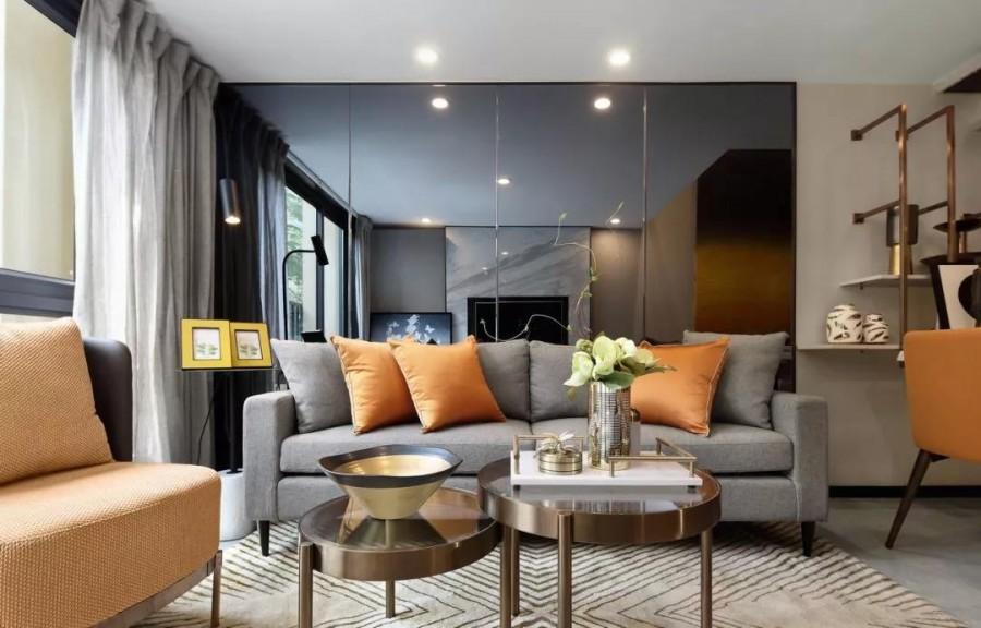 现代简约风格复式三居室装修效果图