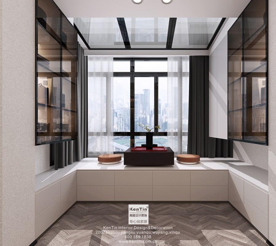 铜雀台现代轻奢风格别墅书房装修效果图