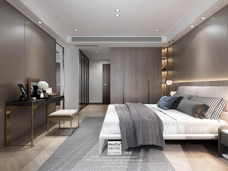 龙湖熙上现代简约风格别墅卧室装修效果图