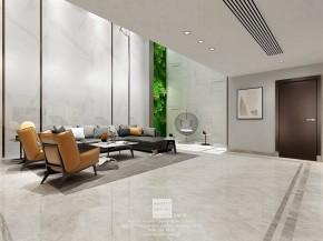 龙湖熙上现代简约风格别墅客厅装修效果图