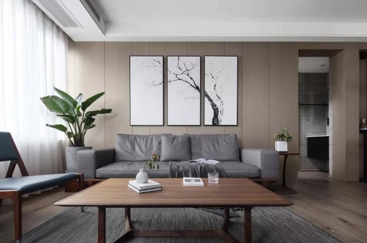 简约中式风格四居室装修效果图
