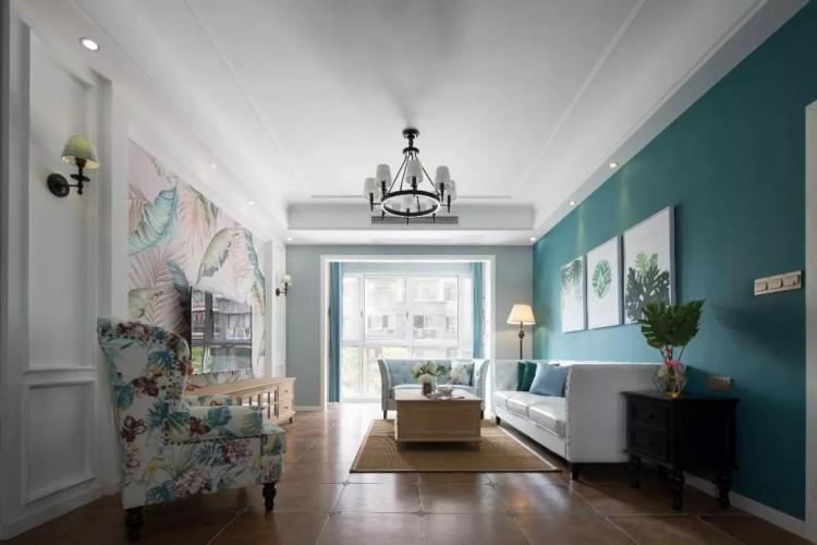 美式风格三居室装修效果图