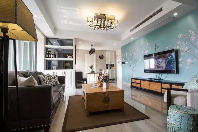 简约风格三居室客厅装修效果图