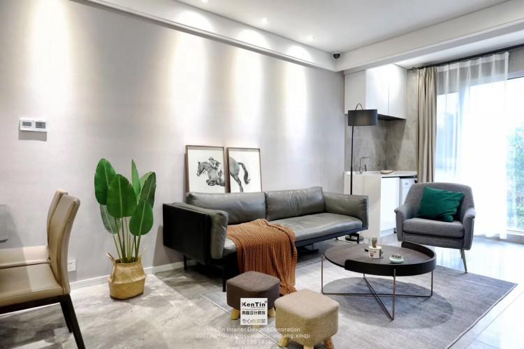 弘阳上湖现代轻奢风格三居室装修实景案例