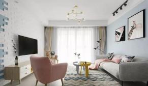 北欧风格四居室装修效果图