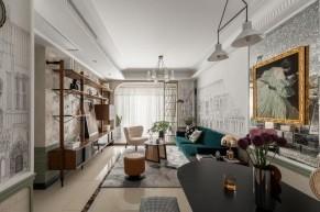 现代轻奢风格三居室装修效果图