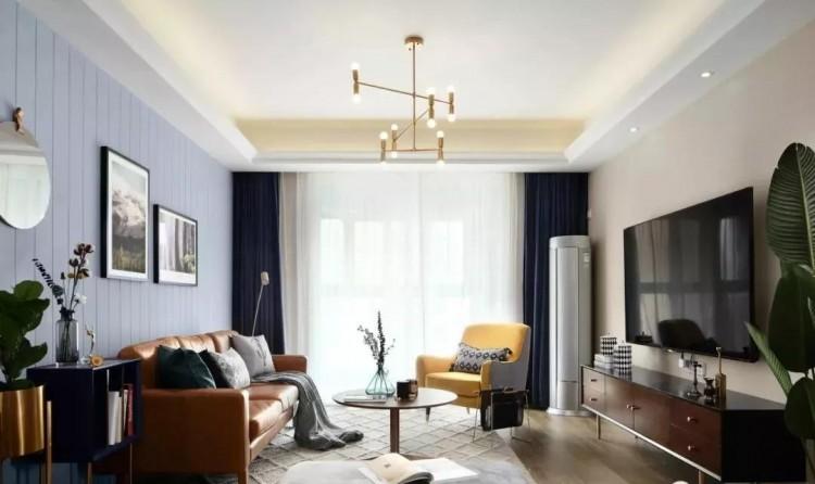 北欧混搭风格三居室装修效果图