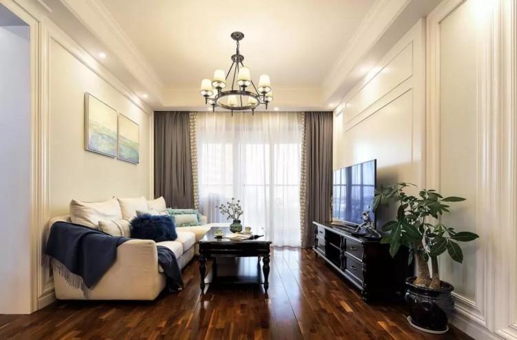 现代美式风格三居室装修效果图