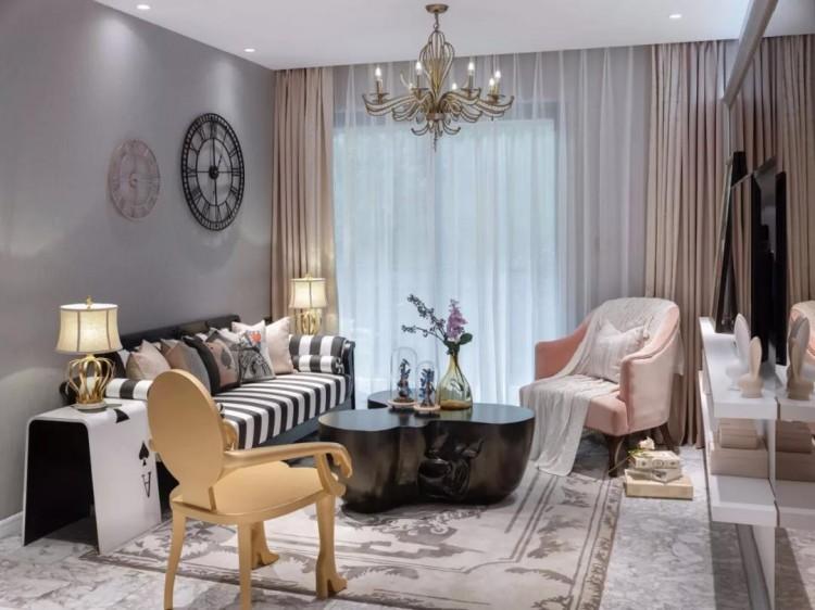 古典风格两居室装修效果图