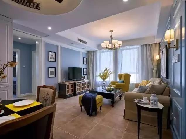 混搭美式风格三居室装修效果图